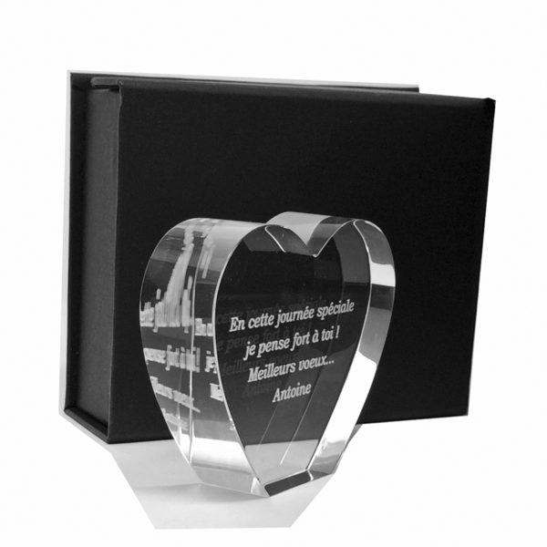 glass heart trophy